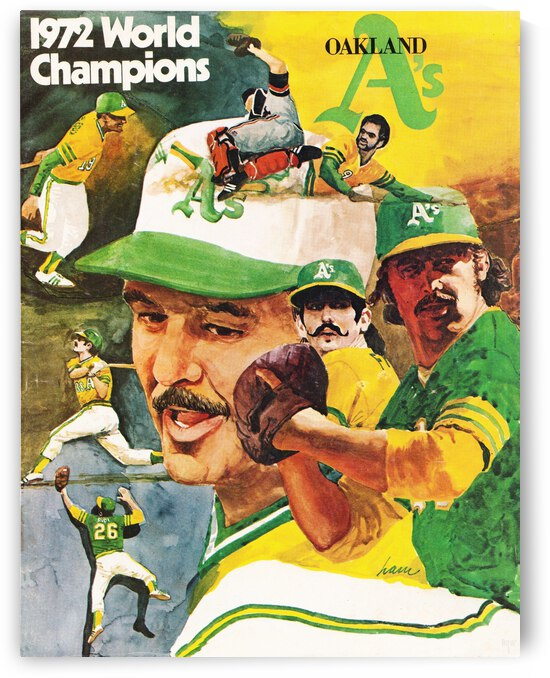 1972 Oakland Athletics World Champions Poster by Row One Brand