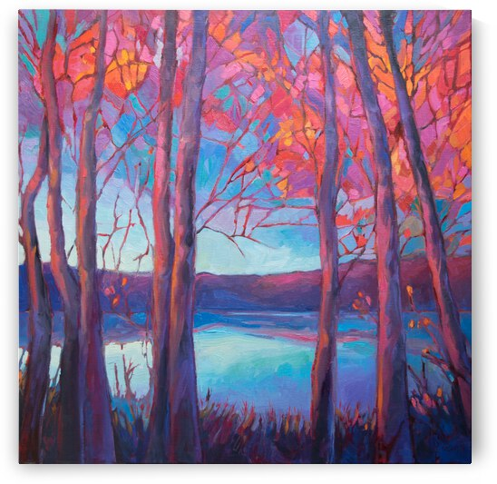 Autumn at the Lake by Art by Alison Newth