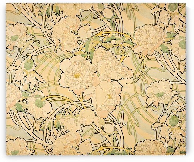 Alphonse Mucha - Peonies by VINTAGE POSTER