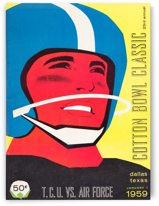 1959 TCU vs. Air Force Football Program Cover Art by Row One Brand