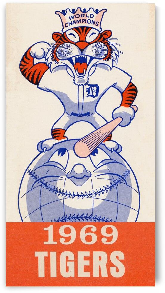1969 Detroit Tigers Retro Baseball Art by Row One Brand