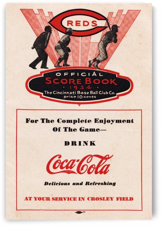 1934 Cincinnati Reds Score Book & Coke Ad by Row One Brand