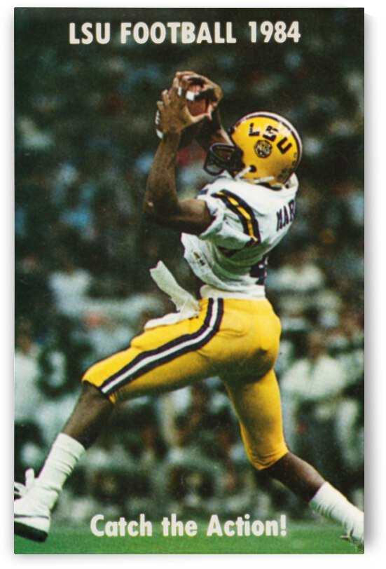 1984 LSU Tigers Football Catch The Action by Row One Brand