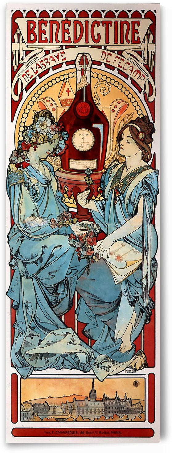 Benedictine by Alphonse Mucha by VINTAGE POSTER