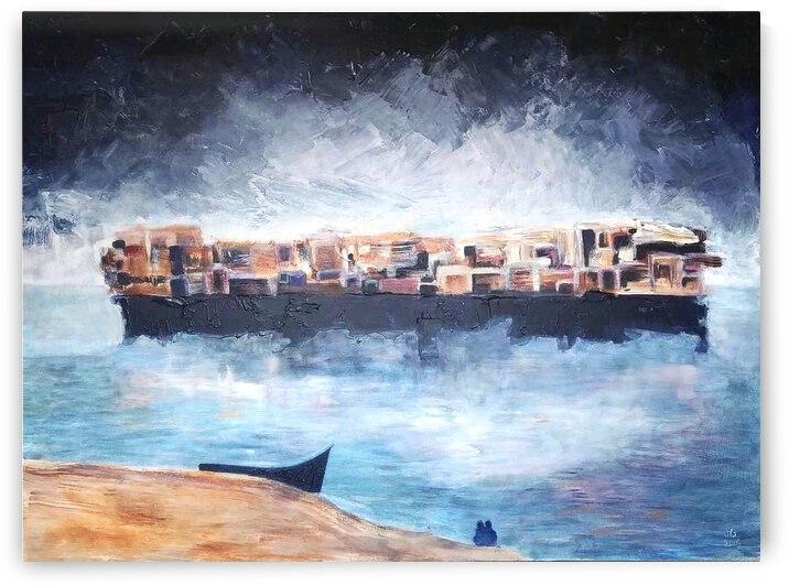 Floating cityscape by Jazmine Gabriel