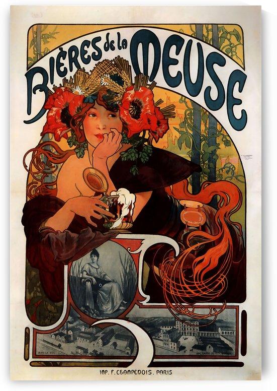 Bieres de la Meuse by Alphonse Mucha by VINTAGE POSTER