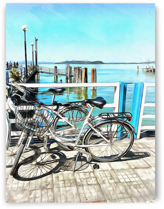 Bicycles at the Ferry Dock by Dorothy Berry-Lound
