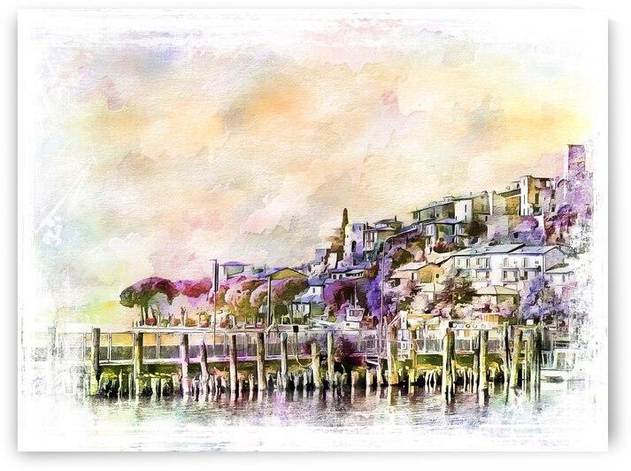 View of Passignano Sul Trasimeno by Dorothy Berry-Lound