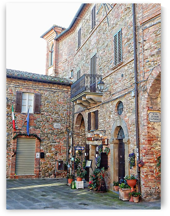 Corner of Main Piazza Panicale by Dorothy Berry-Lound
