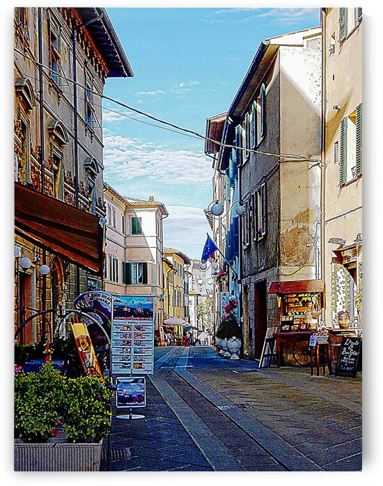 Looking Down The Main Street Castiglione del Lago by Dorothy Berry-Lound