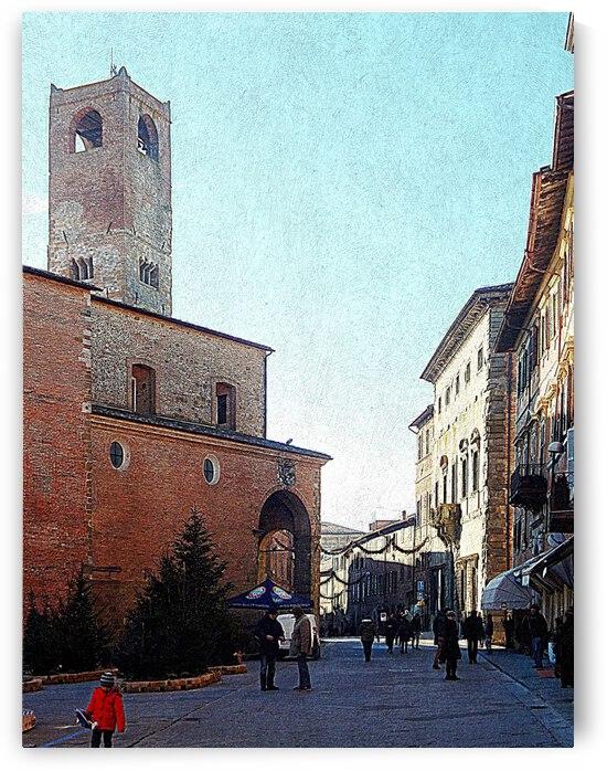 Main Square Citta Della Pieve by Dorothy Berry-Lound