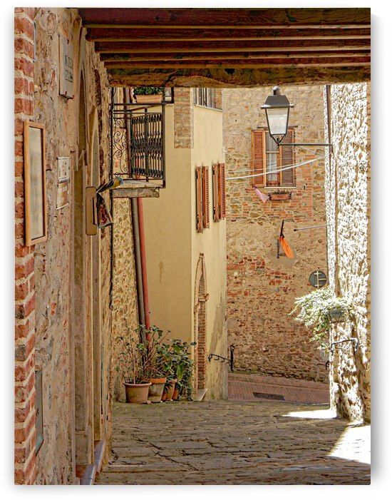 Looking Down to Via Della Pitalessa Paciano by Dorothy Berry-Lound