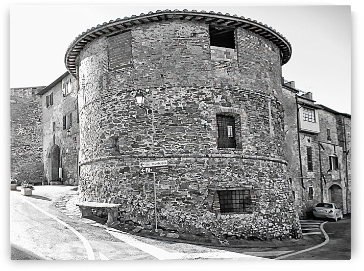 Panicale Town Walls by Dorothy Berry-Lound