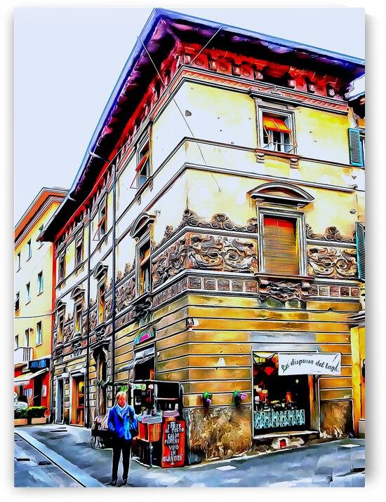 Ornate Corner Castiglione del Lago by Dorothy Berry-Lound