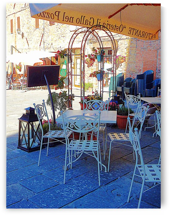 Ready for a Busy Evening at Osteria del Gallo nel Pozzo Panicale by Dorothy Berry-Lound