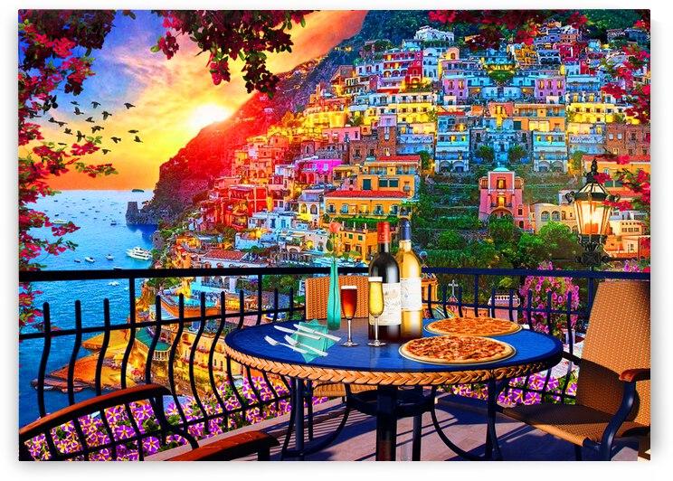 Balcony To Positano by Cris Rodrigues