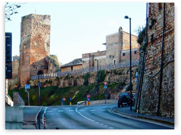 Town Walls Citta della Pieve by Dorothy Berry-Lound