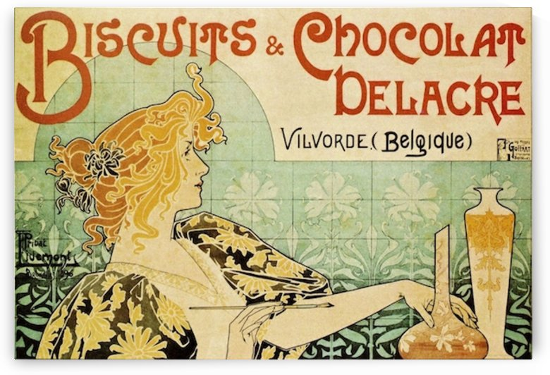 Biscuits and Chocolat Delacre by VINTAGE POSTER