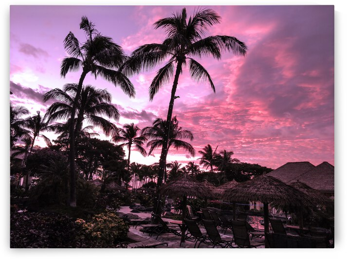 After the Beach Party - Tropical Sunset Hawaii by 24
