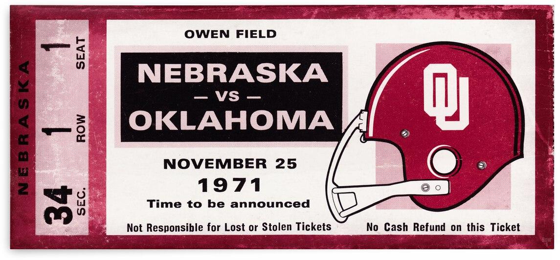 1971 Oklahoma Sooners vs. Nebraska Cornhuskers Remix by Row One Brand