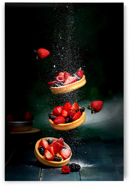 Strawberries On Wooden Bowl by One Simple Gallery
