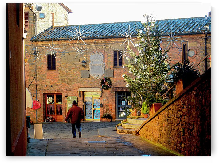 Central Square at Christmas Panicale by Dorothy Berry-Lound