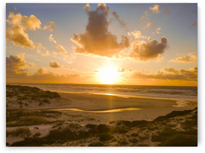 Atlantic Sunset over Praia Del Rey - Portugal by 1North