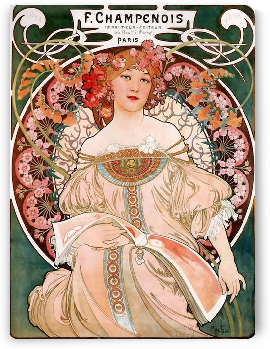 Champenois by Alphonse Mucha by VINTAGE POSTER