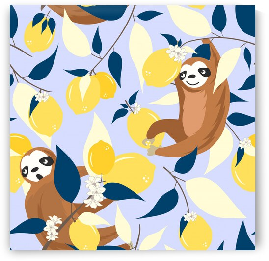 Sloth   Lemons Hangout by 83 Oranges