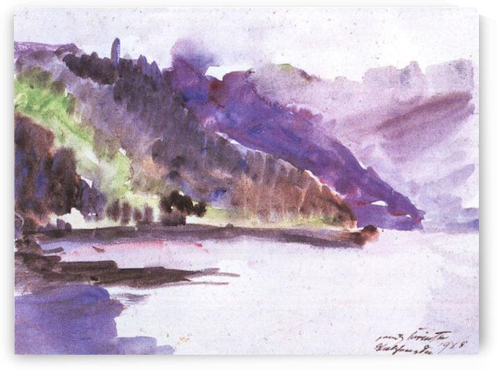 Walchensee -6- by Lovis Corinth by Lovis Corinth