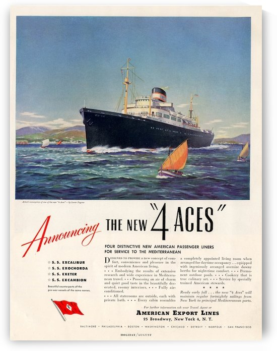 Cunard Line by VINTAGE POSTER