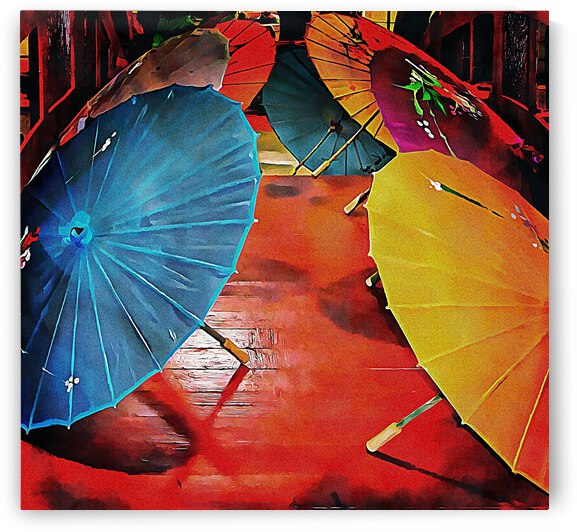 A Crowd of Parasols by Dorothy Berry-Lound