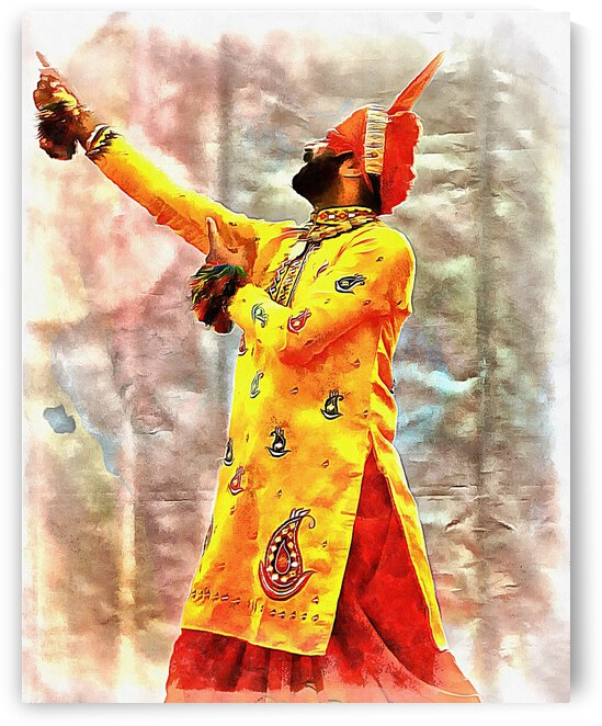 Bhangra Dancer 1 by Dorothy Berry-Lound