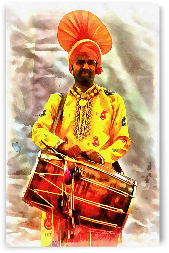 Bhangra Drummer by Dorothy Berry-Lound