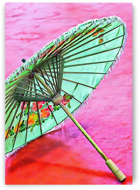 Oriental Green Parasol by Dorothy Berry-Lound