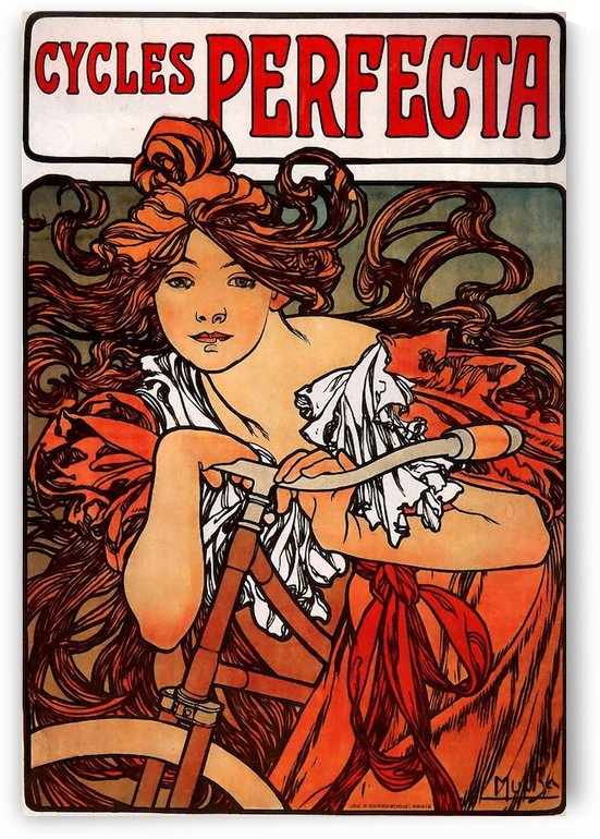 Cycles Perfecta by Alphonse Mucha by VINTAGE POSTER
