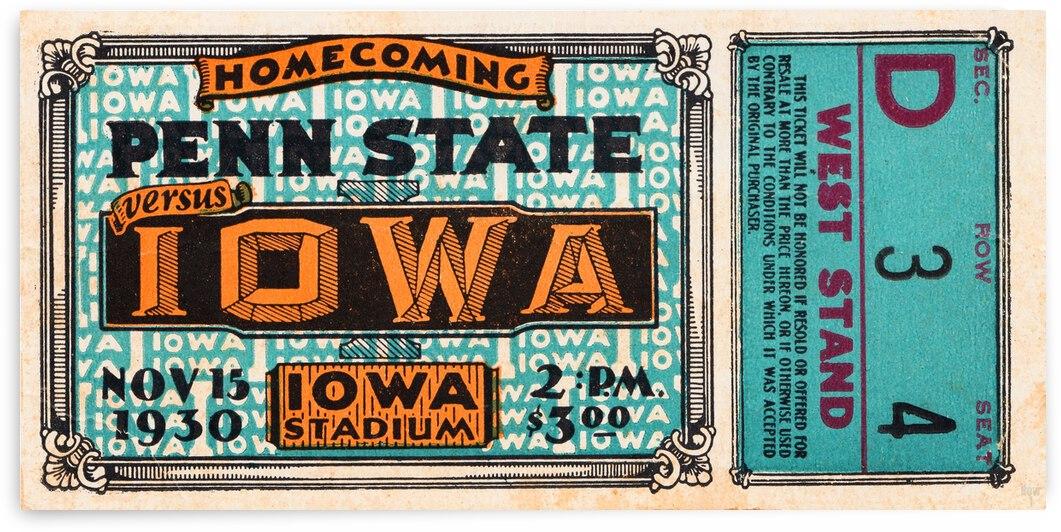 1930 Iowa vs. Penn State by Row One Brand