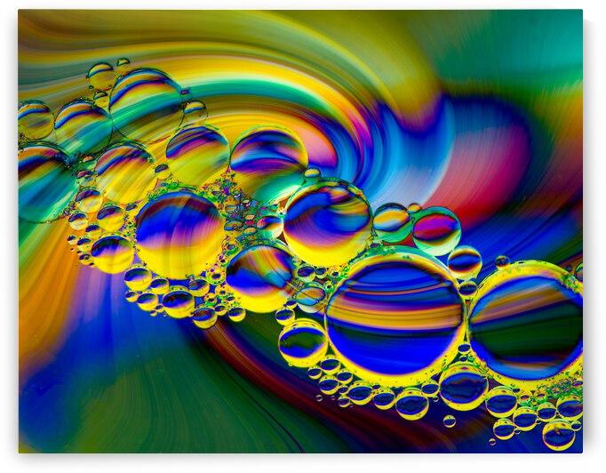 Twirling Bubbles by Leslie K Joseph
