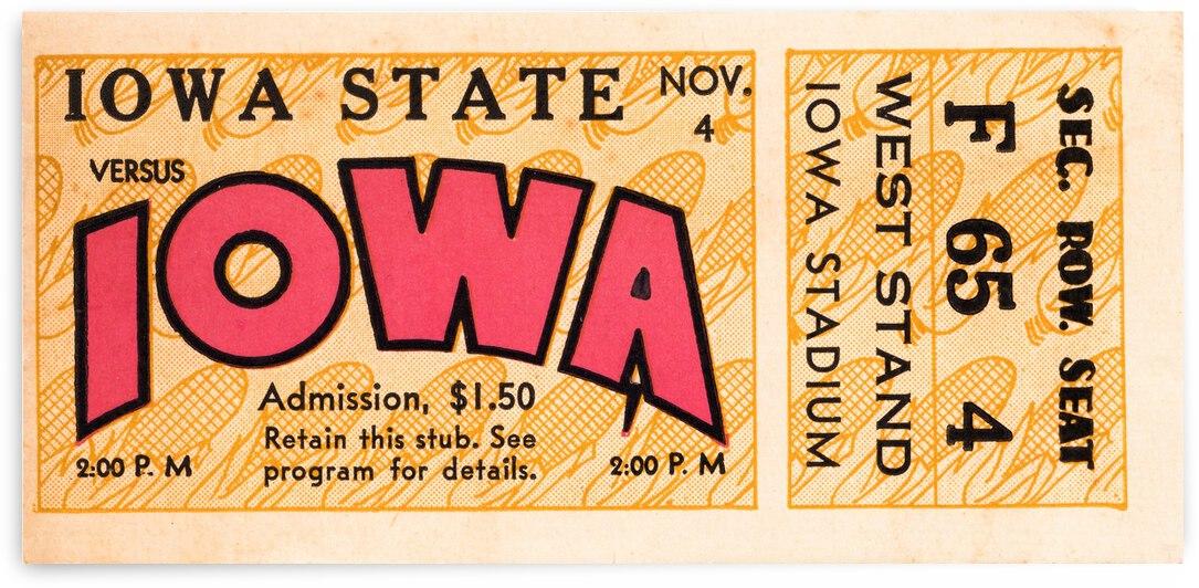 1933 Iowa State vs. Iowa Football Ticket Art by Row One Brand