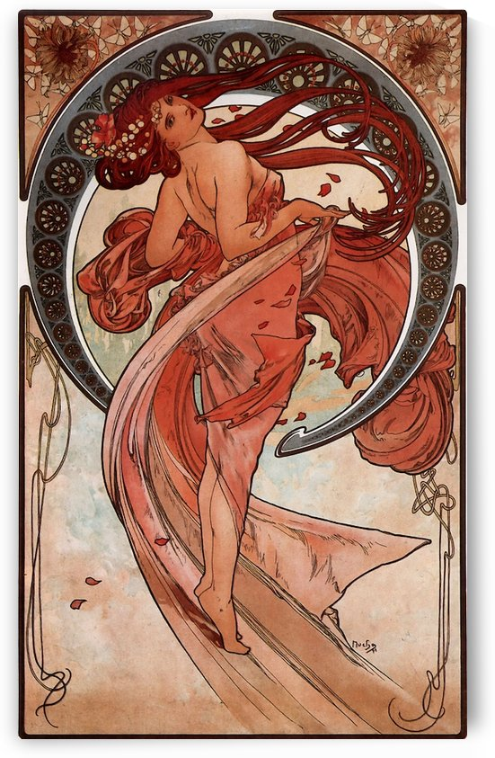 Dance by Alphonse Mucha by VINTAGE POSTER