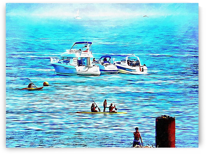 Fun At Sea Brighton by Dorothy Berry-Lound