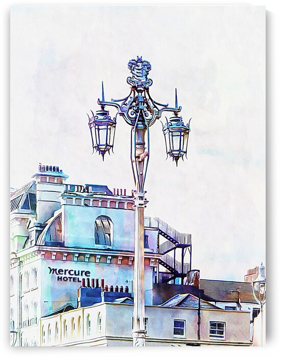 Victorian Street Light and Hotel Brighton  by Dorothy Berry-Lound