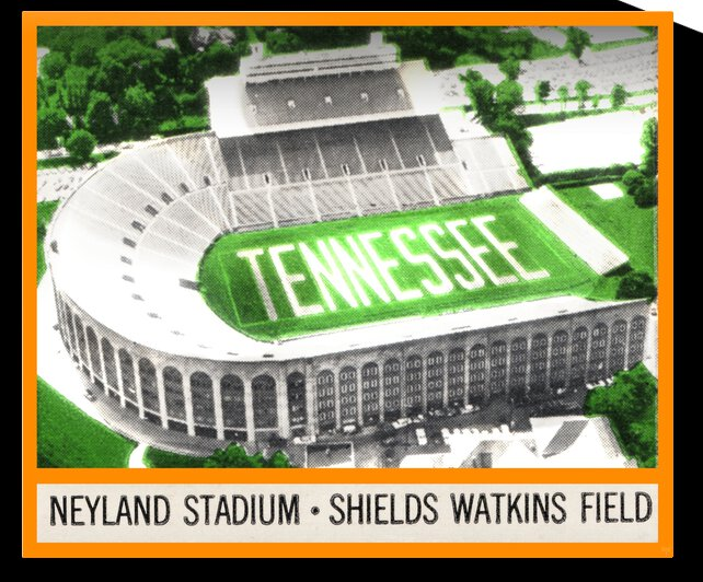 1964 Tennessee Vols Football Ticket Stub Remix by Row One Brand