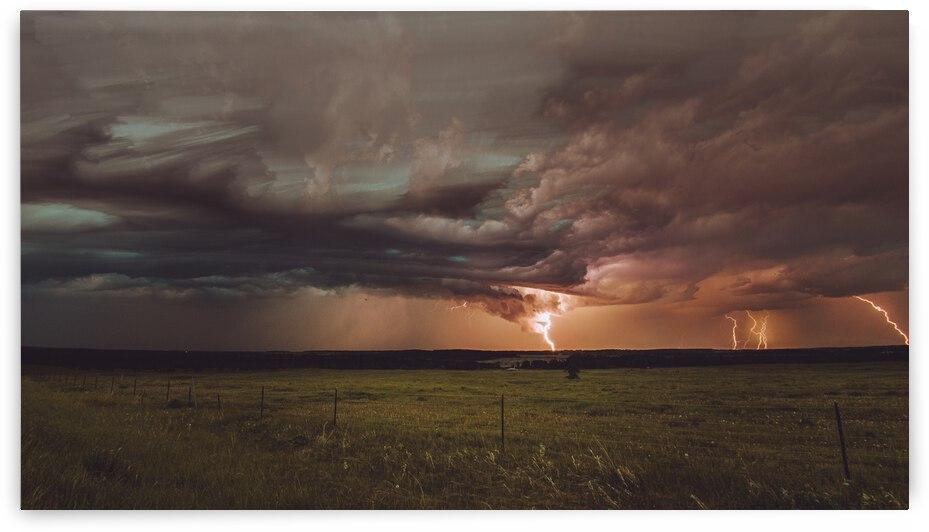 Lightning On The Prairies by Bone Photo