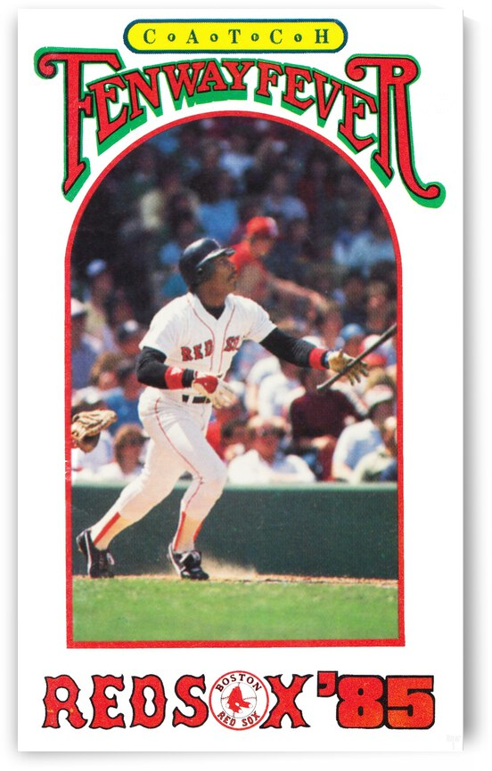 1985 Boston Red Sox Retro Poster by Row One Brand