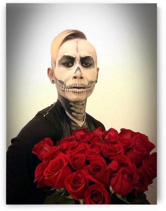 Skull Tux And Roses  by Kent Chua