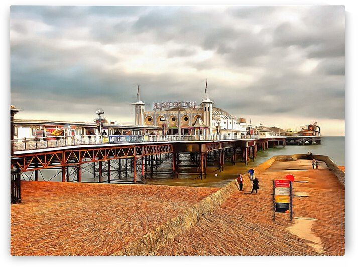 Breezy Evening at Brighton Pier by Dorothy Berry-Lound