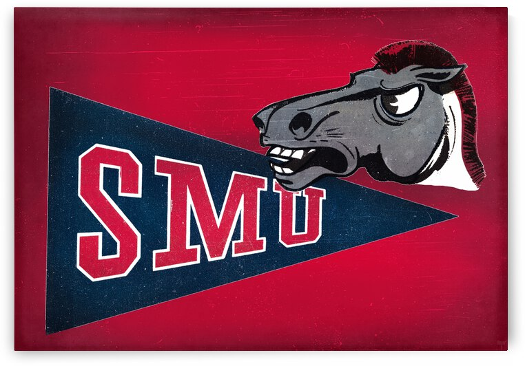 1958 SMU Mustang Art by Row One Brand