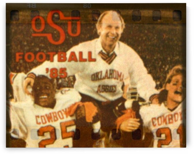 1985 Oklahoma State Cowboys Pat Jones Viewfinder Art by Row One Brand