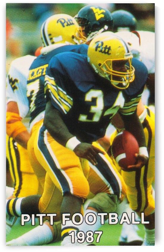 1987 Pitt Football Art Craig Heyward Poster by Row One Brand